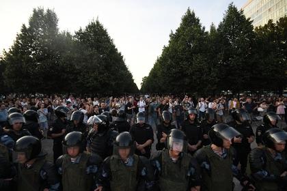 Участников несогласованной акции в центре Москвы посчитали