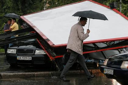 Украинцы остались без коммунальных услуг из-за плохой погоды