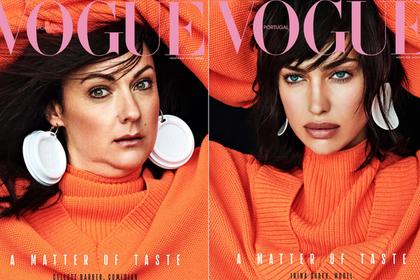 Женщина спародировала российскую супермодель и попала на обложку Vogue