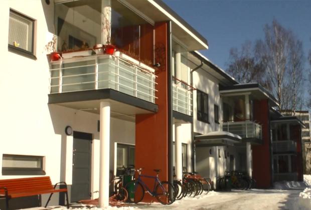 Жилой комплекс для бездомных в Хельсинки