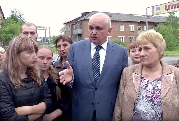 Губернатор Кемеровской области Сергей Цивилев на встрече с жителями Киселевска