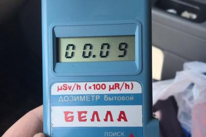 Показания бытового дозиметра в Северодвинске, предоставленные одним из пользователей