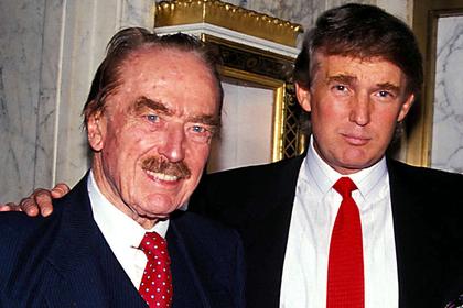Молодой Дональд Трамп и его отец Фред