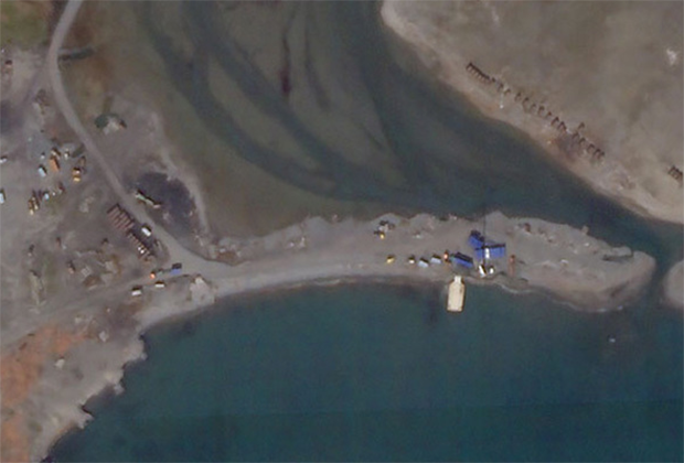 Спутниковый снимок военного полигона