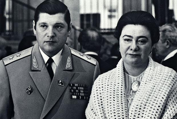 Галина Брежнева с мужем Юрием Чурбановым, 1981 год