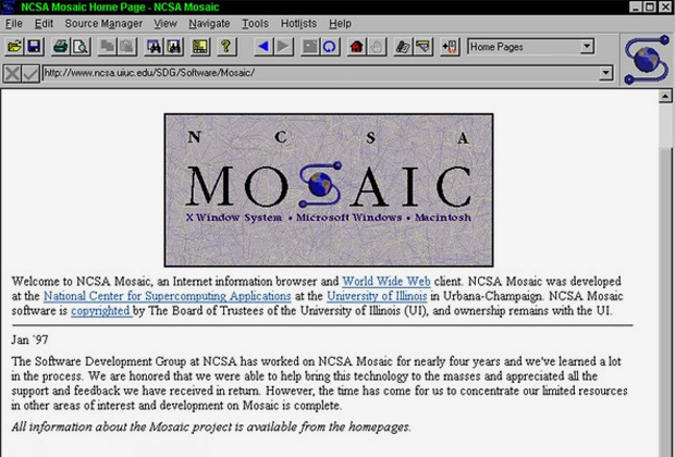Mosaic browser 1993