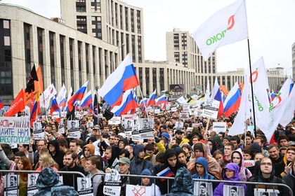 Число участников митинга на проспекте Сахарова возросло до 15 тысяч