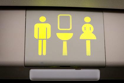 За пассажирами бизнес-класса наблюдали с установленной в туалете скрытой камеры