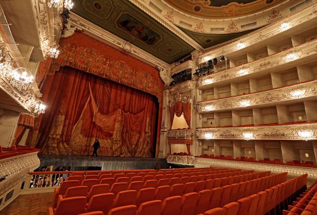 Зрительный зал Михайловского театра в Санкт-Петербурге