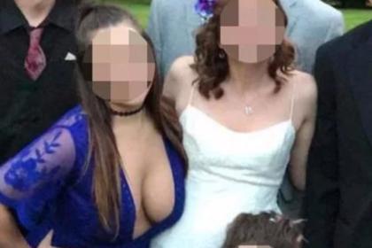Глубокое декольте подружки невесты возмутило пользователей сети