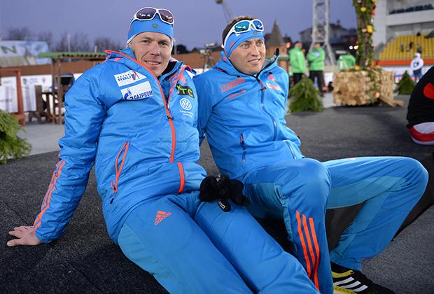Российские спортсмены Иван Черезов и Александр Легков