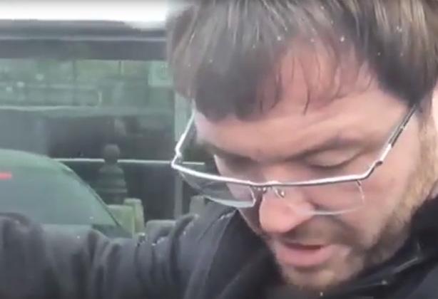 Алексей Красильников во время задержания