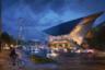 При разработке внешнего облика канатной дороги в Гетеборге, как и в амстердамском проекте, архитекторы задействовали образы из прошлого города. По замыслу UNStudio, асимметричные конструкции канатки своей формой напоминают корабельные верфи.