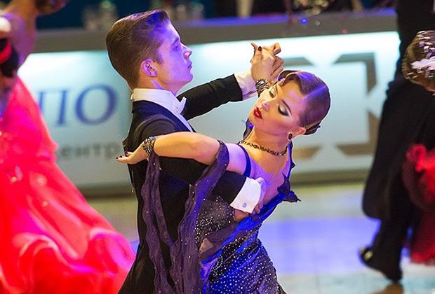 Ольга Бородина на танцевальном выступлении