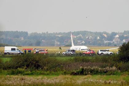 Появилось видео попадания птиц в двигатель A321