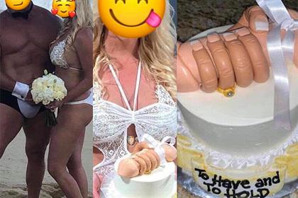 Молодожены украсили торт мужскими гениталиями и были пристыжены
