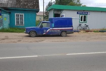 Машину-«франкенштейн» «Почты России» сняли на видео