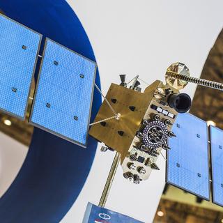 Макет российского космического аппарата серии «Глонасс-К»