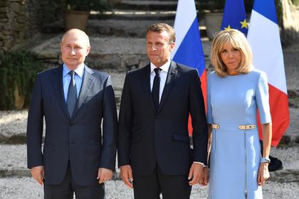 Путин похвалил лицо Брижит Макрон