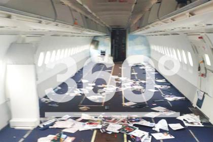 Обнародованы фотографии совершившего аварийную посадку А321 изнутри