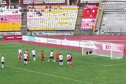Российский футболист забил победный гол дальним ударом в «девятку»