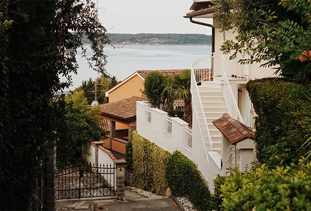 Вид на Адриатическое побережье и город Порторож