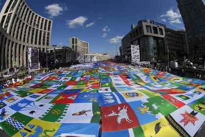 В Москве развернули «Флаг-рекордсмен»