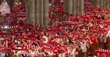 Немецкий футбольный клуб проиграл после массового молебна фанатов