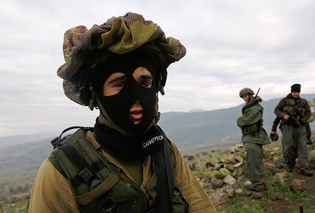 Израильские десантники во время учений на Голанских высотах, 2009 год
