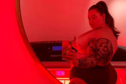 Фанаты пожалели самую тучную в мире модель под ее откровенным снимком
