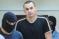 Олег Сенцов в зале суда