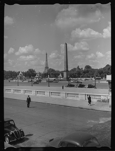 Площадь Согласия (Place de la Concorde). Париж, Франция, 1939 год
