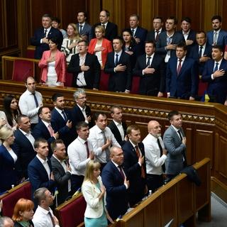 Дмитрий Разумков на первом заседании Верховной рады