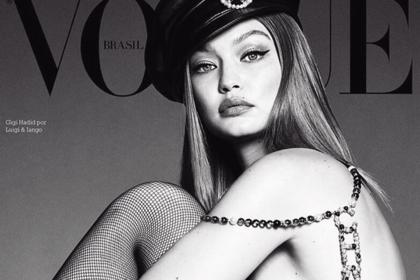 Джиджи Хадид в одних колготках попала на обложку модного журнала
