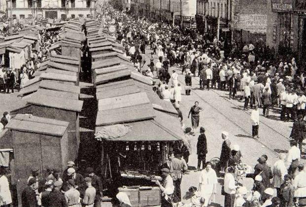 Смоленский рынок в Ленинграде