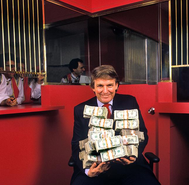 Дональд Трамп. Атлантик-Сити, Нью-Джерси, 1990 год