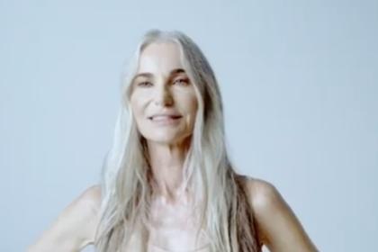 58-летняя модель в нижнем белье снялась в рекламе для Ким Кардашьян