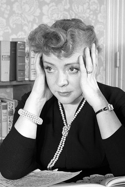 Актриса Зоя Федорова, 1958 год