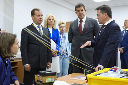 Андрей Воробьев и Дмитрий Медведев