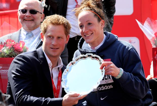 Принц Гарри и Татьяна Макфадден. Лондонский марафон.