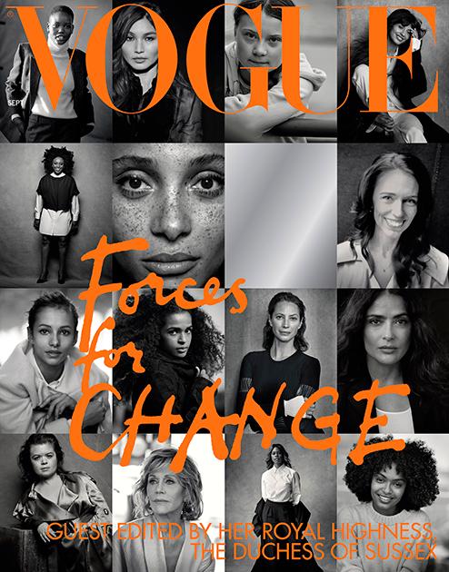 Обложка нового номера британского Vogue