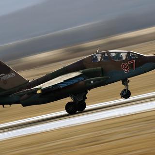 Штурмовик Су-25УБ. Архивное фото