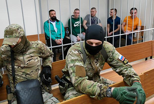 Украинские моряки на заседании Лефортовского суда