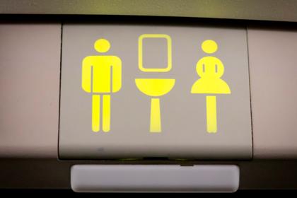 Уединившихся в туалете самолета пассажиров заподозрили в непристойностях