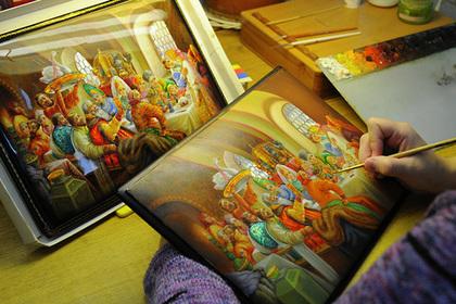 Федоскинские шкатулки покажут на выставках в Москве и Подмосковье