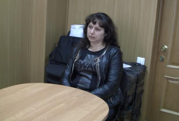 Елена Крайнова на допросе