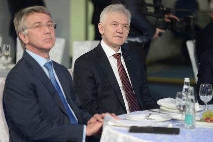 Бизнесмены Леонид Михельсон (слева) и Геннадий Тимченко