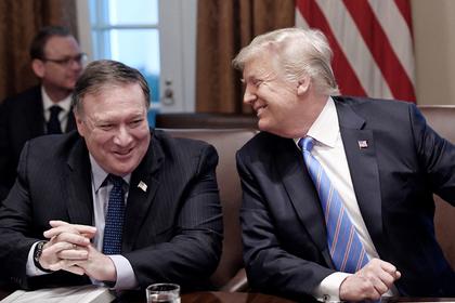 Майк Помпео и Дональд Трамп