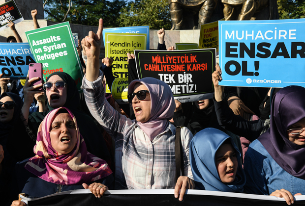 Акция протеста в Стамбуле против принудительной депортации