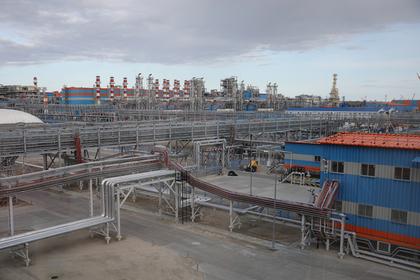 Территория завода по сжижению природного газа «Ямал СПГ»